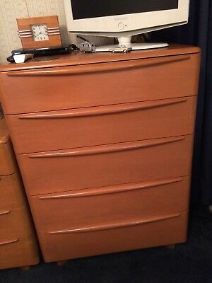 Vintage 1951 MID CENTURY MODERN Heywood Wakefield Encore Dresser Tall Boy Chest