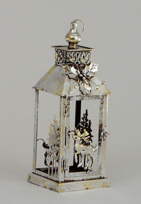 Silver/Gold Metal Lantern / Candle Holder Home Christmas Decoration 47cm