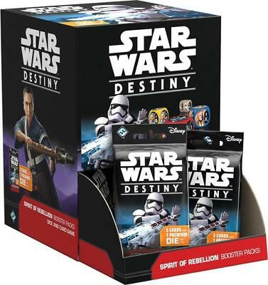 Star Wars Destiny SPIRIT OF REBELLION booster box 36 packs FACTORY SEALED