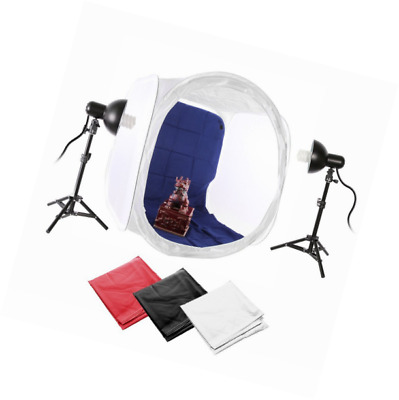 Ruili 80 x 80 x 80 cm photo Studio Light Cube Soft Box Tente 2 x Mini studio pho