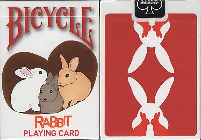 Rabbit Bicycle Playing Cards Poker Size Deck USPCC Custom Limited Edition New