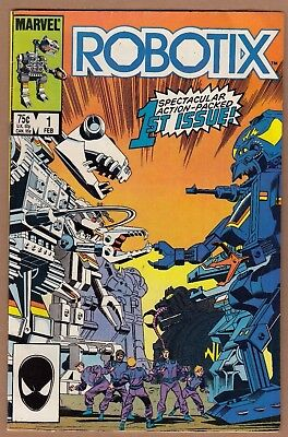Robotix #1 (Marvel-1986) VF+  Sharp, Glossy! -combine ship-