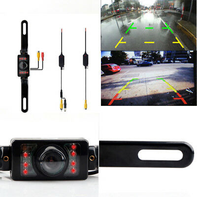 Wireless Video Night Vision Wide Angle Back Up Camera for Car Rear View System