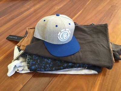 FREE POST Boys All New Bulk Summer Clothes Sz 10, 10 Items Quicksilver,Rip Curl