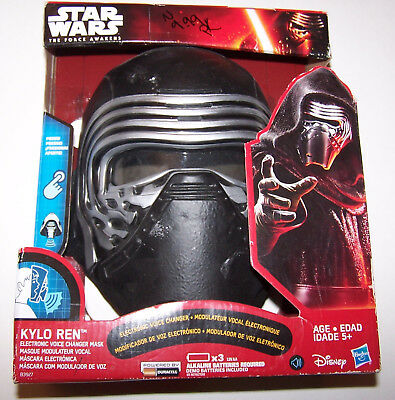 NEW! Star Wars The Force Awakens Kylo Ren Electronic Voice Changer Mask Helmet