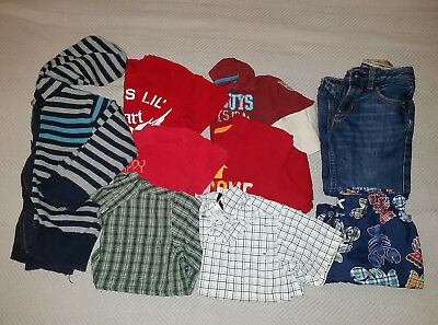 Boys Size 5T Clothes - Shirts, Pants, Sweater - Lot of 9 - Top name brands!