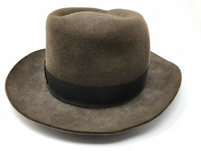 Pure Fur Felt Brown Fedora Hat Size XL Brooks Brothers NYC - nice !