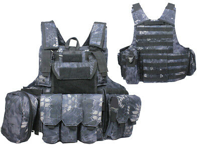 Tactical Military Airsoft Paintball Camo Level 5 Molle Combat Vest TYP Color