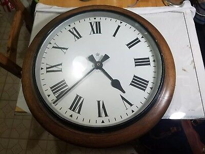 Antique GPO Wall Clock Marked GPO and ER on Dial Made in Germany