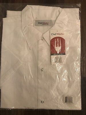 Chef Works White Coat, Size Medium, New