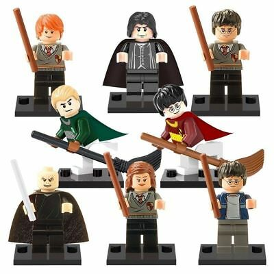 8x Harry Potter Hermione Malfoy Ron Snape Mini figures Building Bricks Toy Block