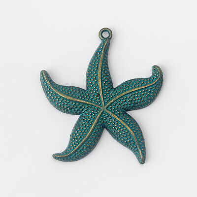 3 Pcs Ancient Greek Bronze Large Starfish Sea Star Charms Pendants