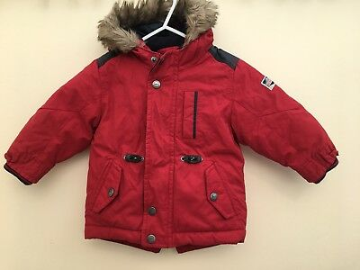 Baby Boys Next Hooded Coat Age 9-12 Months <D961