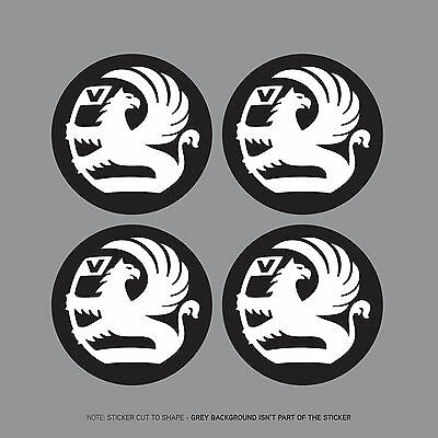 SKU2043 - 4 x Vauxhall Griffin Black Alloy Wheel Centre Stickers - 55mm