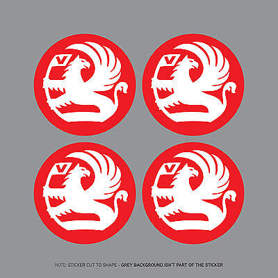 SKU2044 - 4 x Vauxhall Griffin Red Alloy Wheel Centre Stickers - 55mm