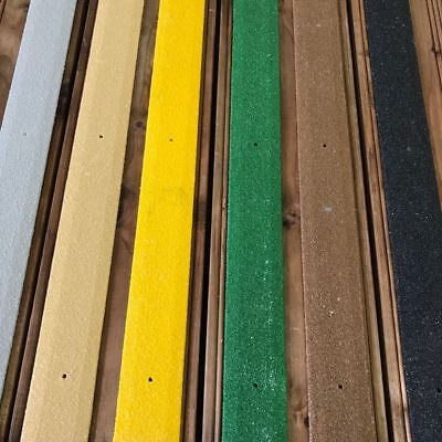 Anti Slip GRP Decking Strips. 65 x 1000mm . 6 colours.. Free screws and shipping
