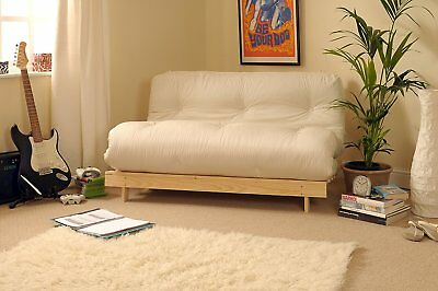 Cream 23 Seater Sofa Double Bed Futon 4ft6 Couch Settee Folding
