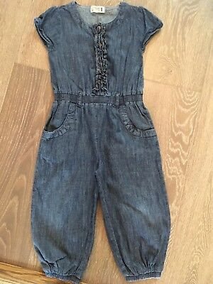 Gorgeous Little Girls Denim Jumpsuit From Next Age 3-4 Years