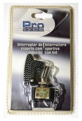 Interruttore switch universale auto sportivo con led carbonio