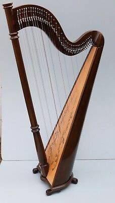 Mikel 38 Strings Lever Harp with Carry Bag, Local Delivery in USA, UK and Europe