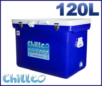 120L Chillco Ice Box Cooler Chilly Bin Ice Chest Superior Ice Retention-Rrp $500