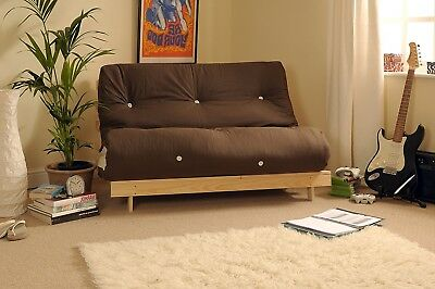 Modern 2 Seater Futon Sofa Double Bed 4ft Couch Settee Folding Cotton Mattress