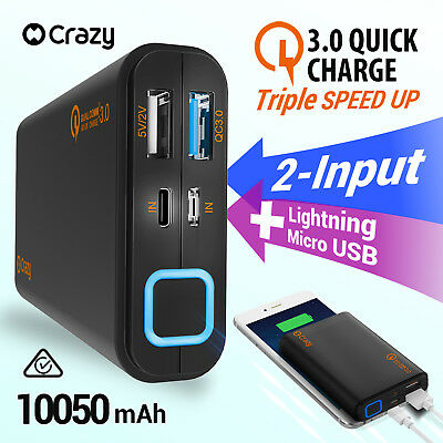 10050mAh External Power Bank Dual USB Portable Battery Charger For Phone