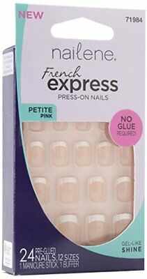Nailene French Express Ready to Wear Nails Petite Pink Fuzzy