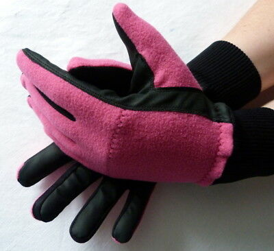 1 Paar Wintergolfhandschuhe FLEECE Damen PINK  S M L  GOLF Winter Handschuhe