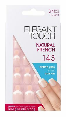 Elegant Touch Natural French Nails Number 143 Petite XS Pink GLUE ON
