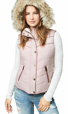 aeropostale womens hooded puffer vest