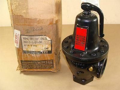 "New Mcdonnell & Miller 260-1-1/2-30 260 Series Relief Valve 1-1/2"" Npt In 30 Psi"