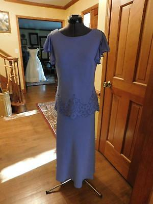 Beautiful Wysteria Blue Mother Of The Bride Or Groom Or Formal Occasion Size 8