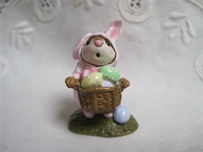 Wee Forest Folk M-082 Easter Bunny-Mouse Store Special Pink with Dots - WFF Box