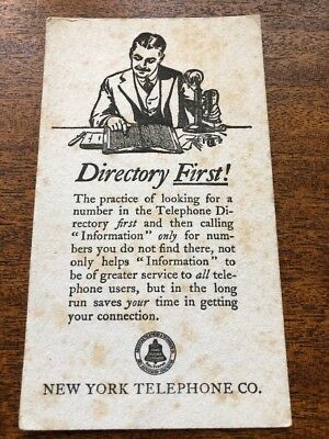 """N.Y Telephone Blotter """"Directory First"""""""