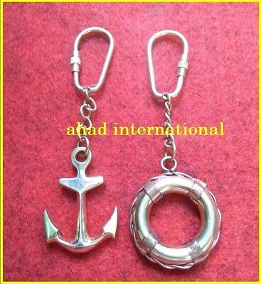 Pair Of Vintage Nautical Solid Brass  Key Chains Best Quality Gift