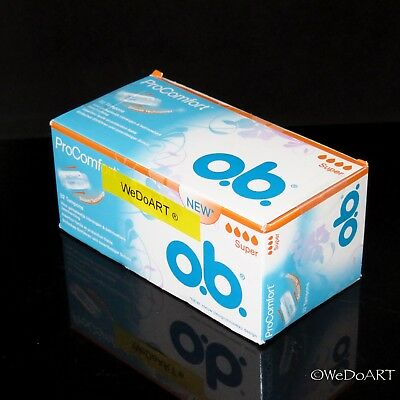 OB Pro Comfort Tampons - Brand New in Box, SUPER - 32 Count