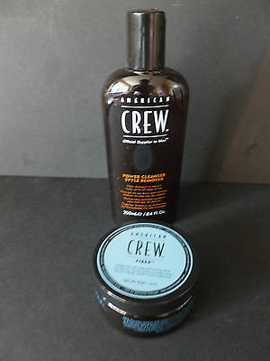 American Crew Power Cleanser Shampoo And America Crew Fiber 85G