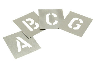 STNL2W Set of Zinc Stencils - Letters 2in Walleted FREE POST