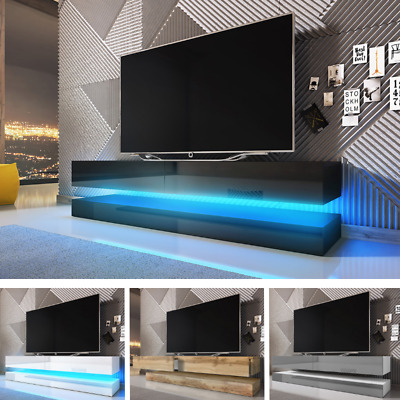 Floating TV Cabinet AIRCRAFT Hanging TV Stand  TV Wall Unit with LED