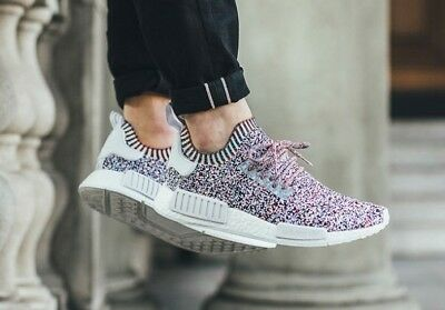 29f5dec0fe3 ADIDAS NMD R1 White Black Rainbow Multicolor Multi Bw1126