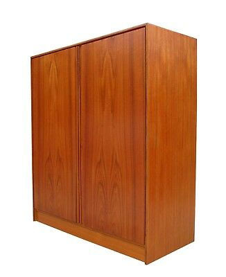 Danish Modern Teak & Birch Wardrobe Gentlemen's Chest Dresser Denmark 1 of 2