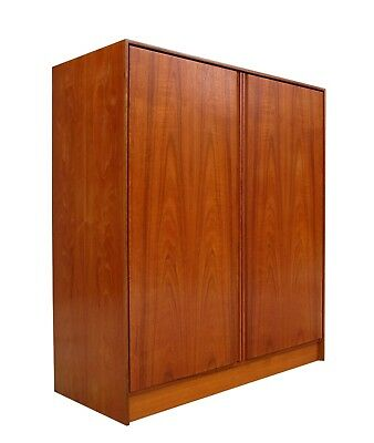 Danish Modern Teak & Birch Wardrobe Gentlemen's Chest Dresser Denmark 2 of 2