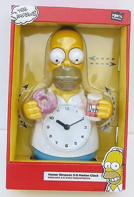 "The Simpson, 3D motion wall clock, size 8"" x 4"" 15"", Kids gift."