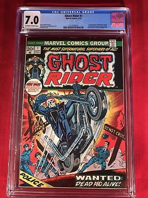 Ghost Rider #1 *1st App Of The Son Of Satan* CGC 7.0 *OFF WHITE TO WHITE PAGES**