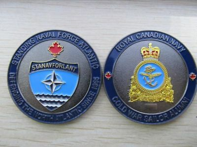 HMCS Royal Canadian Navy NATO STANAVFORLANT Collectible Challenge Coin