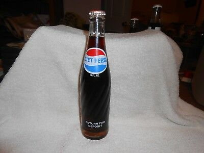 Diet Pepsi Cola 10 oz Return Glass Soda Bottle