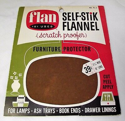 1965 Flan - Self-Stik Flannel Scratch Proofer - Vintage - Antique
