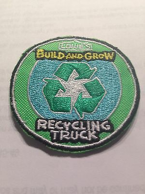 Lowe's Build and Grow RECYCLING TRUCK Iron-On Patch NEW