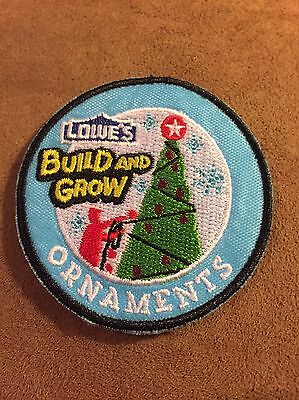 Lowe's Build and Grow ORNAMENTS Iron-On Patch NEW